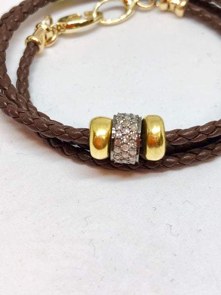 Perle by Lola 18K Gold & Diamond Wrap Bracelet