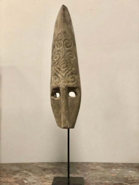 Elongated Mask on Stand
