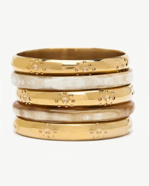 Ashley Pittman Kidube Bangle Set Light Horn