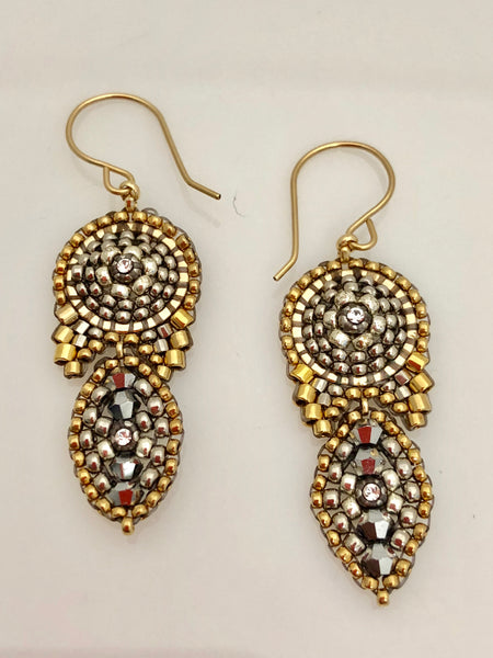 Miguel Ases Swarovski and Miyuki Earrings