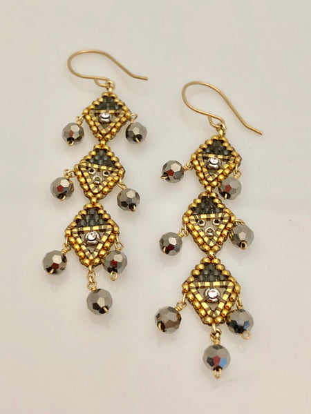 Miguel Ases swarovski and miyuki bead drop earrings found at PATRICIA in Southern Pines and Raleigh, NC