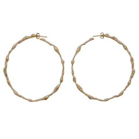 Julie Cohn Seaweed Hoop Earrings