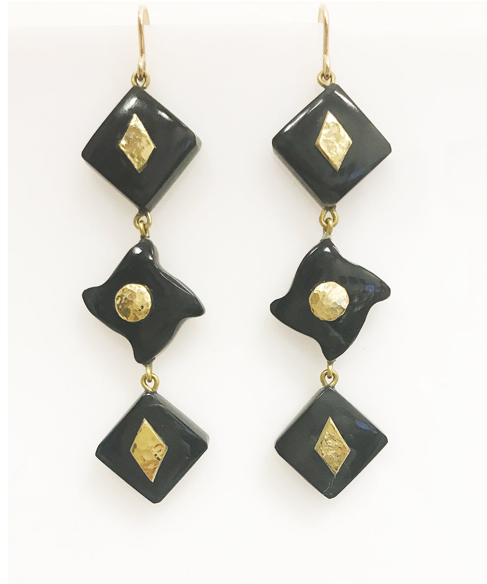 Ashley Pittman Julikana Earring Dark Horn
