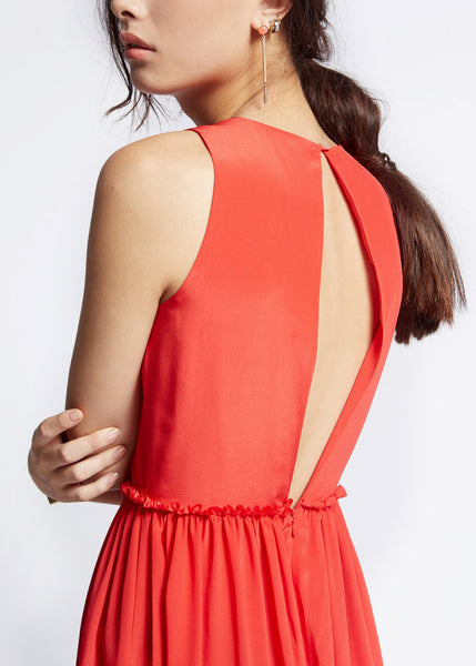 Slit back in romper