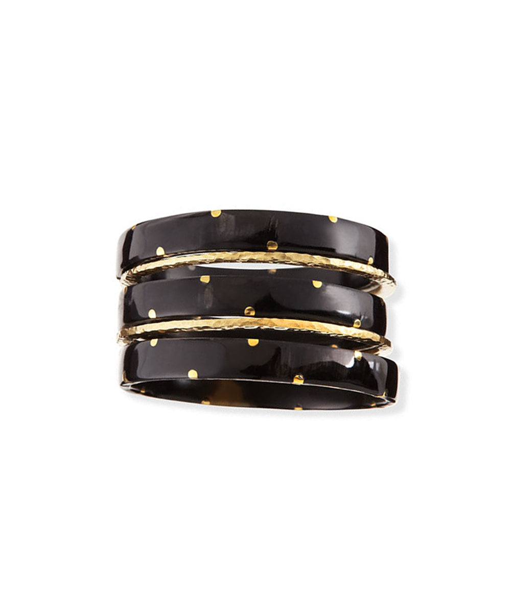 Ashley Pittman Makali Bangle Set Dark Horn
