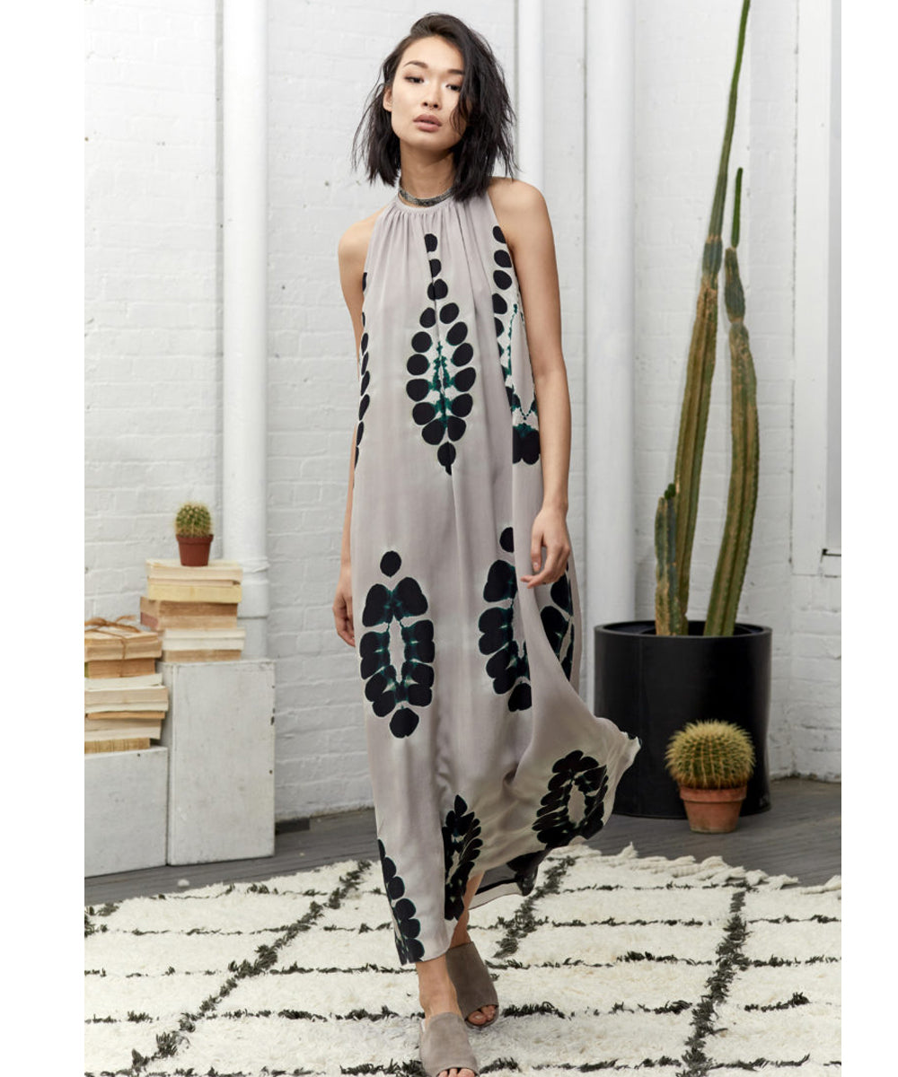 Laura Siegel Dot Sleeveless Maxi Dress