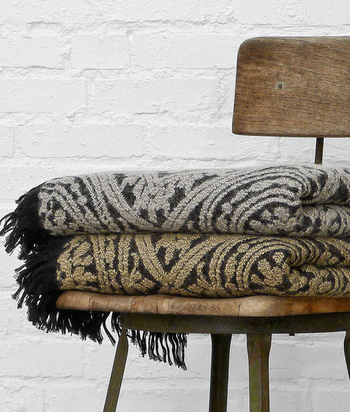 Bohemian Fringed Throw by The Oriole Mill