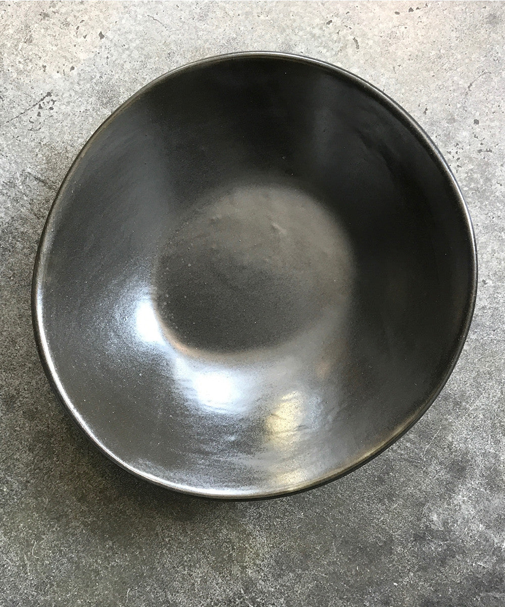 Ripple Soup Bowl Black.Shop the Ripple Collection at PATRICIA. Designed by Mark Warren of HAAND in our home state of North Carolina. Beautiful, modern plates for the minimal home.