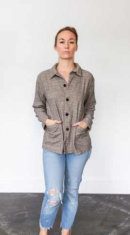 CP Shades Lt. Gray Ingrid Brushed Cotton Jacket