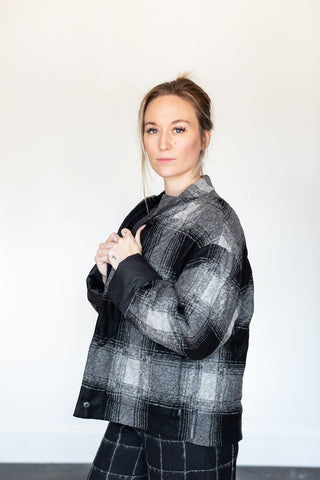 Elemente Clemente Gray Plaid Reversible Tappi Jacket