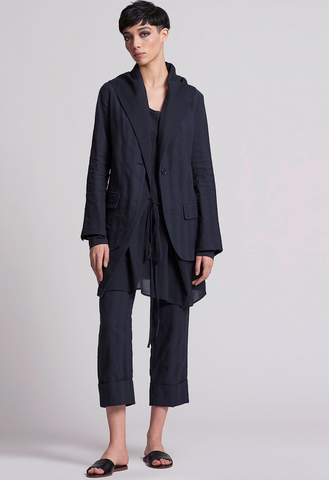 Peter O. Mahler Straight Pant with Wide Cuff Navy