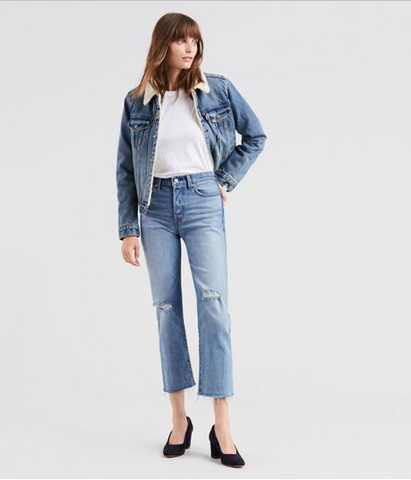Levi's Wedgie Straight -In Two Minds Wash