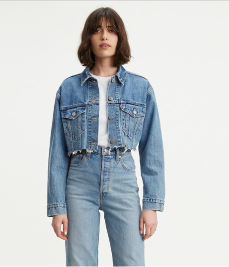 Levi's Cut-off Crop Trucker