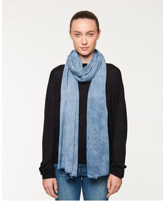 Line Calista Knit Scarf in Deep Sea