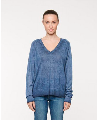 LINE Dita Knit Sweater in Deep Sea