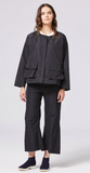 Shosh Storm Jacket in Black Taffeta