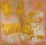 Seasons by Trish Deerwester (5 of 9) gold and cream on pink canvas