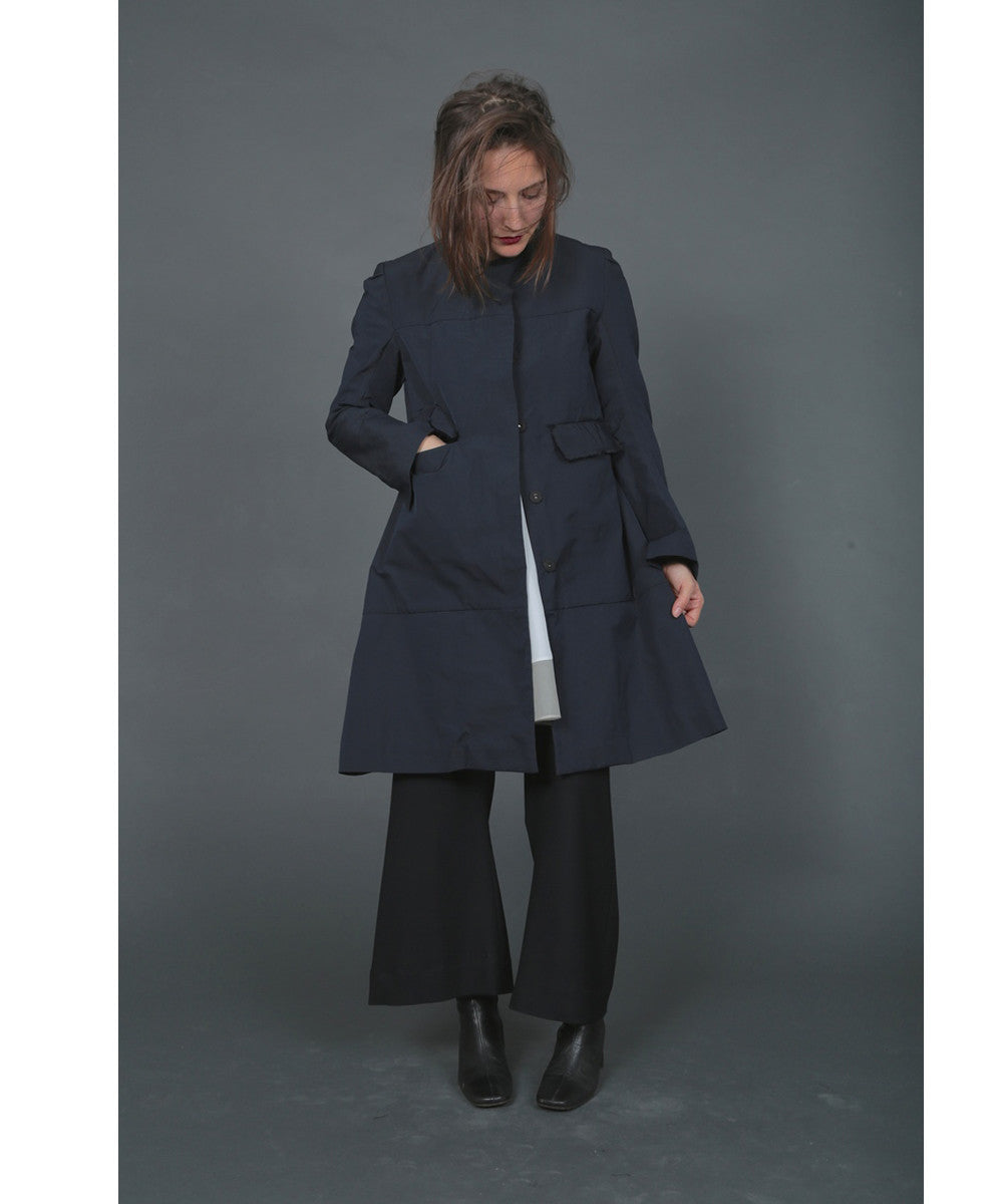 Shosh Greta Rain Coat in Navy