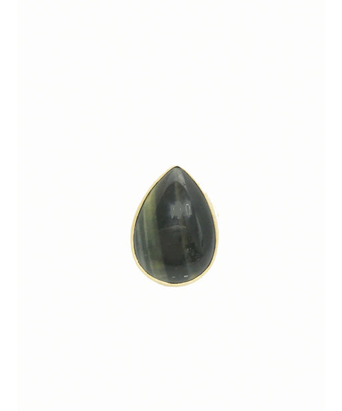 Heather Benjamin Dark Charcoal Tigers Eye Ring