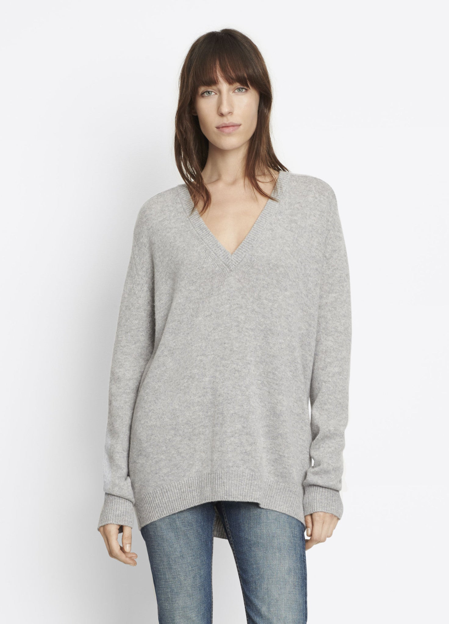 Vince Low Vee Cashmere Boyfriend Sweater
