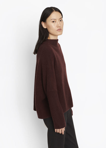 Vince Funnel Neck Sweater Cordovan