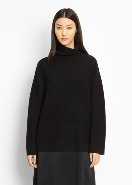 Vince Black Boxy Cashmere Turtleneck found at Patricia in Southern Pines and Raleigh, NC
