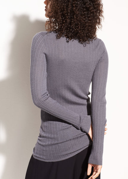 long sleeve gray sweater from vince