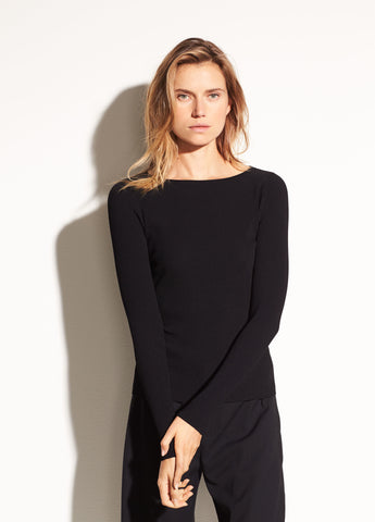 Vince Ribbed Long Sleeve Top