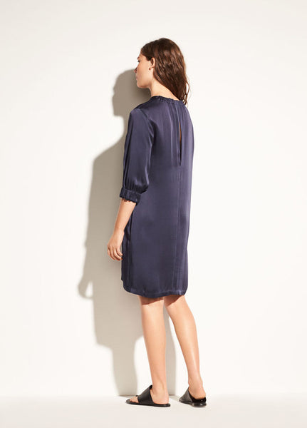 Vince Gathered Shift Dress