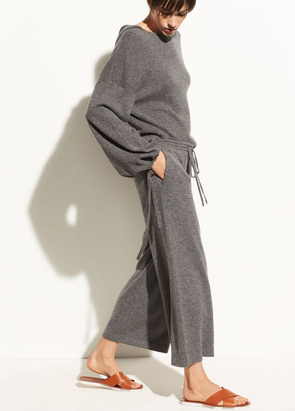 Women's wide legged lounge pants and slouch hoodie
