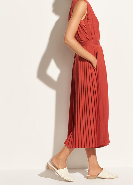 Vince Pleated Culotte in Paprika