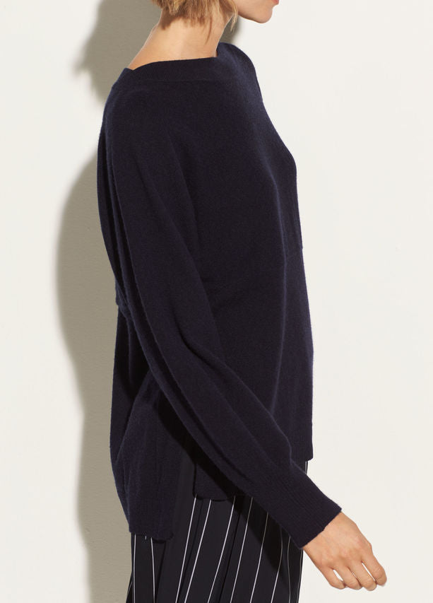 Vince Side slit wool boatneck top found at Patricia in Southern Pines and Raleigh, NC