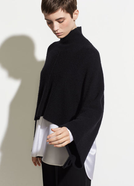 Vince Black Turtleneck Poncho