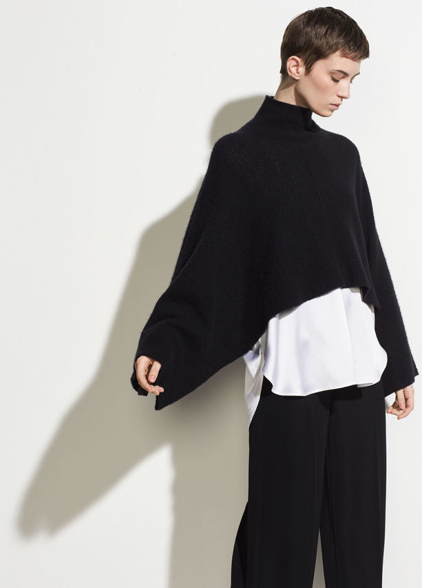 Vince Cropped Black Turtleneck with Bell Sleeves found at Patricia in Southern Pines, NC