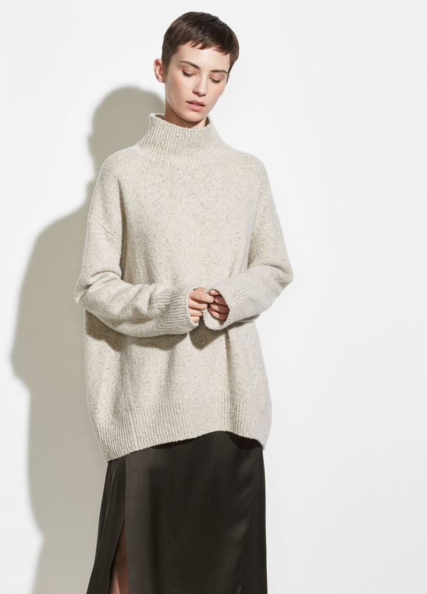 Vince buttermilk oversized turtleneck sweater found at Patricia in Southern Pines, NC