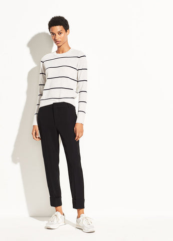 Vince Black Cuffed Crepe Suiting Trouser