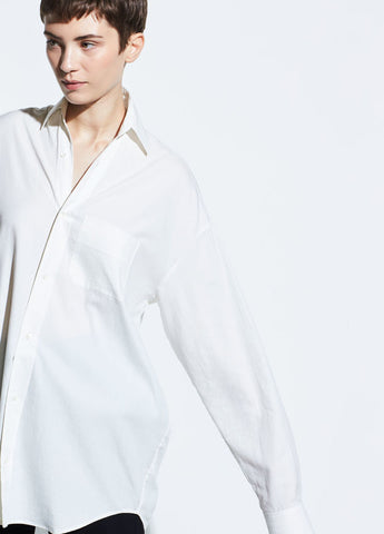 Vince Oversized White Classic Shirt