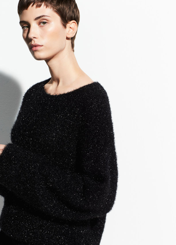 Vince Funnel Boxy Pullover
