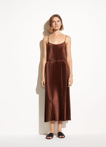 Vince Pleated Cami Dress Sycamore