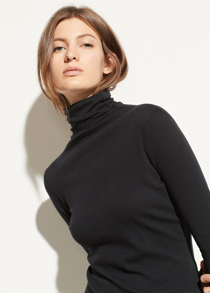 Vince Essential Black Long Sleeve Turtleneck
