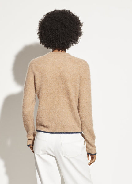vince contrast tip camel pullover in a wool blend found at PATRICIA in Southern Pines, NC