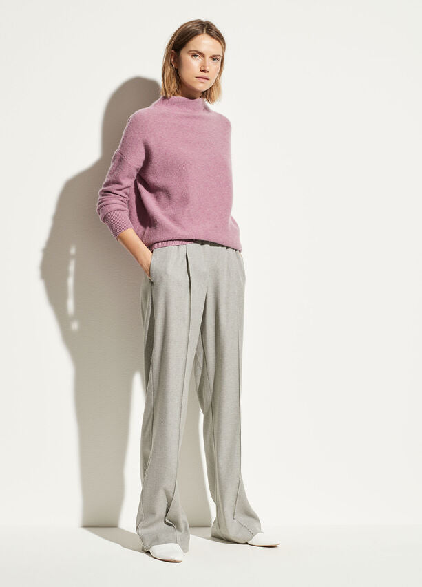 Vince Flannel Wide Leg Pant Heather Grey