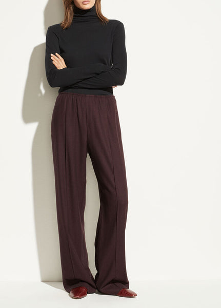 Vince Flannel Wide Leg Pant Raisin