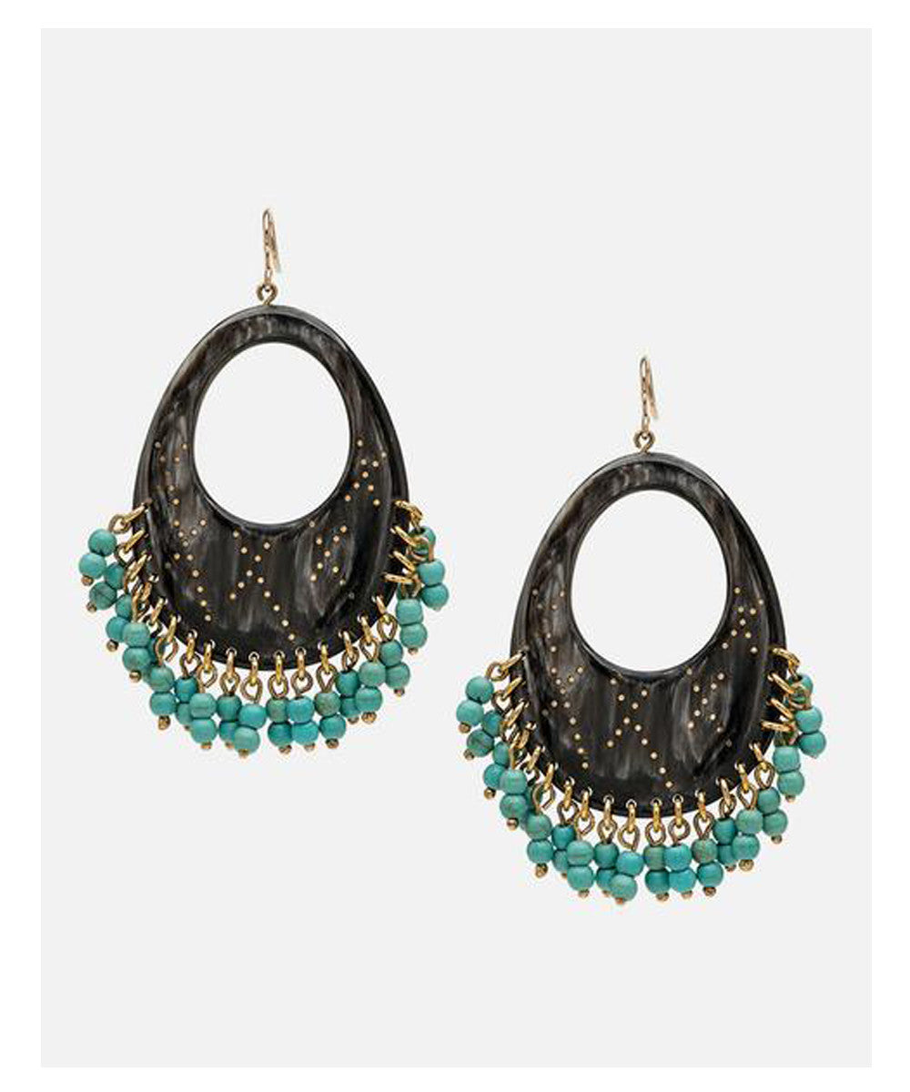 Ashley Pittman Vuka Earring in Dark Horn