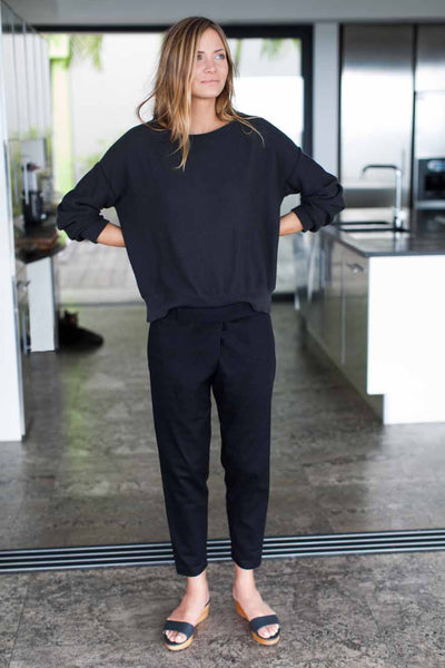 Emerson Fry Wrap Pant - Black