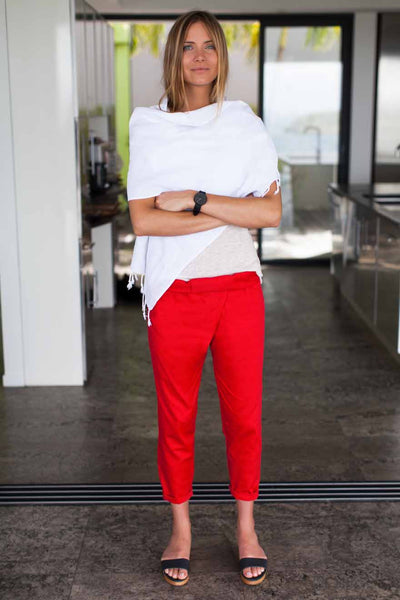Emerson Fry | Wrap Pant - Hot Red
