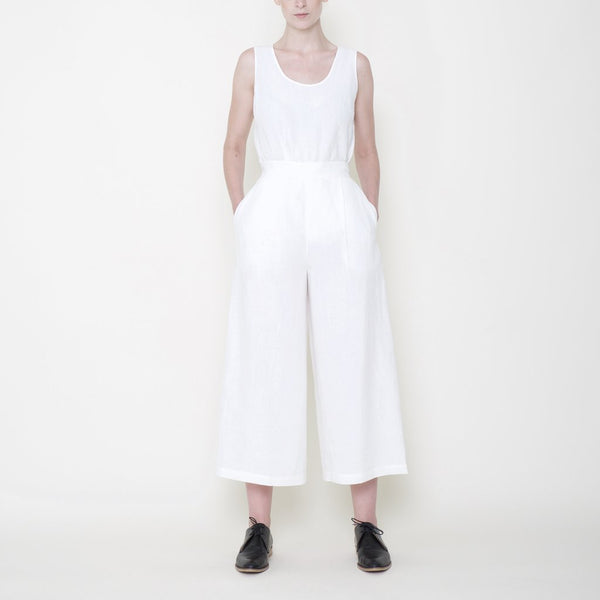 wide legged white trousers from Szeki