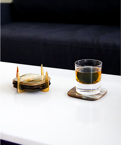 Pure Bras & Ankole Coaster Set- Light