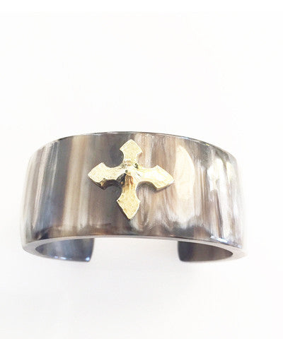 Ashley Pittman Tani Single Star Cuff in Dark Horn
