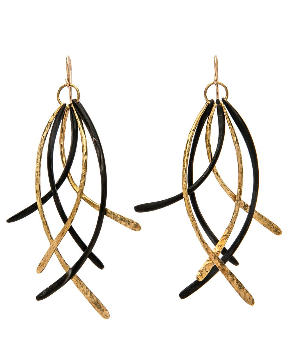 Ashley Pittman Abiri  Earring in dark or light horn found at Patricia in Southern Pines, NC